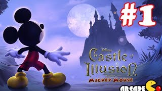 Disney Mickey Mouse: Castle of Illusion - Part 1 Enchanted Forest Walkthrough Gameplay