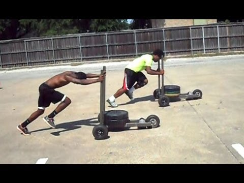Poteet high school football players WOD with the XPO Sled - Part 2