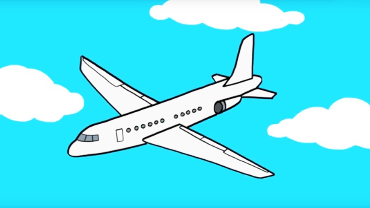 Apprendre dessiner un avion youtube - Dessin d avion facile ...