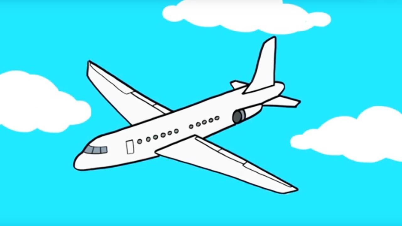 Apprendre dessiner un avion youtube - Comment dessiner un train ...