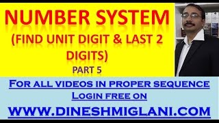 Number System  Unit Digit and Last 2 digits