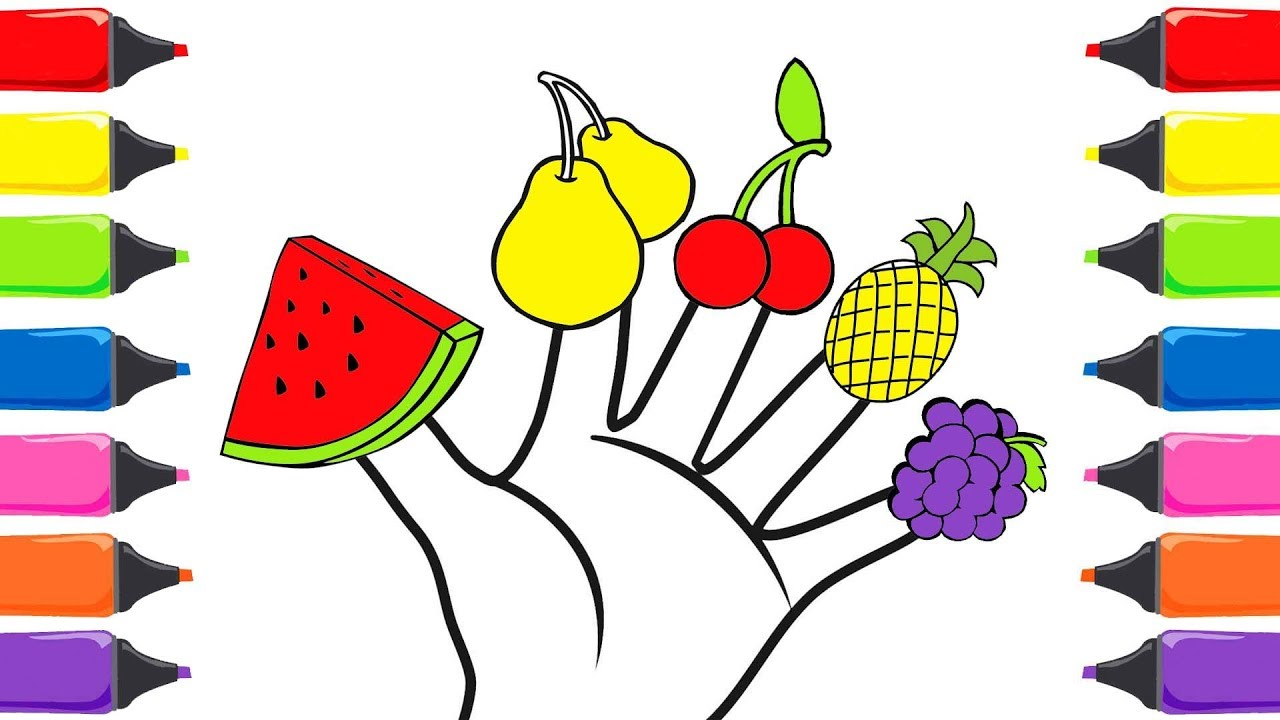 Meyveler Parmak Ailesi Meyveleri Ogreniyorum Meyveler Sarkisi