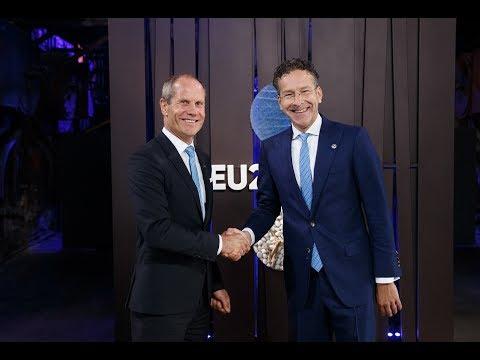 Informal ECOFIN (Eurogroup) – Arrival, doorstep, handshake