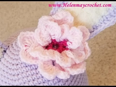 Crochet Double Cherry Blossom Flower Diy Video Tutorial Youtube