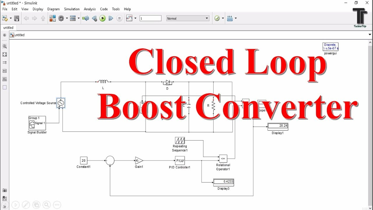 Closed Loop Boost Converter Design Simulink And Control Matlab Buck Inverting Sepic