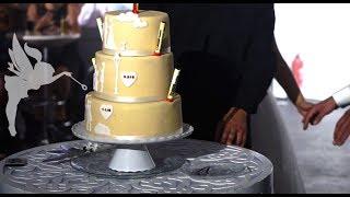 Making of Marzipan Hochzeitstorte mit Silhouetten Deko - Hochzeitstorten Making of - Kuchenfee