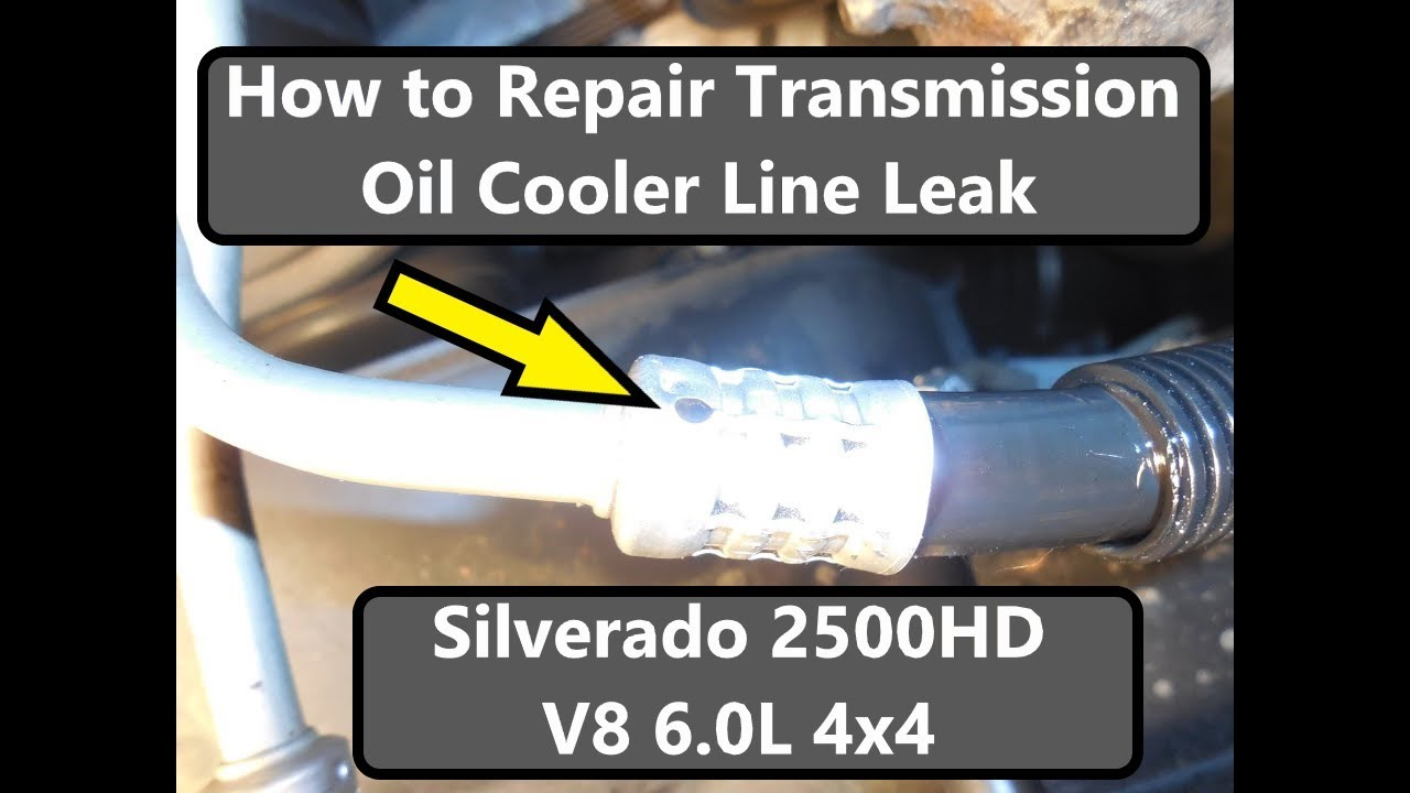 2006 chevy equinox engine diagram 2001 ford f250 super duty wiring transmission cooler line leak repair - youtube