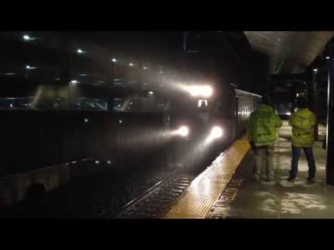 First 'Dinky' Train Arrives At New Princeton Station