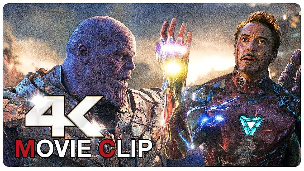 Iron Man Vs Thanos Final Battle Scene Avengers 4 Endgame 2019