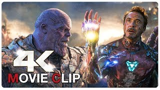Iron Man Vs Thanos - Final Battle Scene - AVENGERS 4 ENDGAME (2019) Movie CLIP 4K