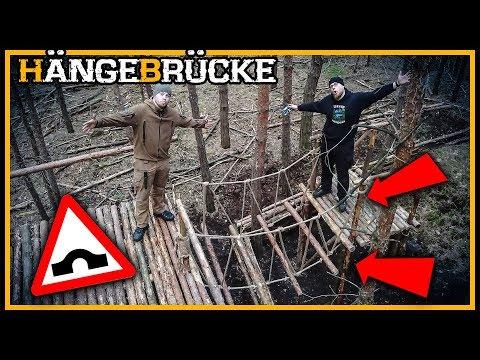 Bushcraft Camp: Die Hängebrücke - Bushcraft Shelter Lagerbau