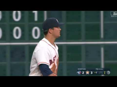 J.D. Davis backhanded play in MLB debut