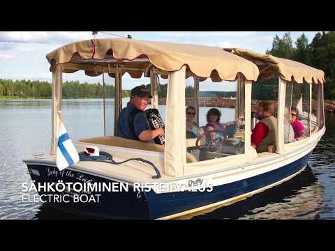 Ecoboat sightseeing cruises in Puumala, lake Saimaa Finland
