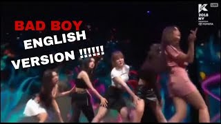 red velvet 'BAD BOY' English version!!!
