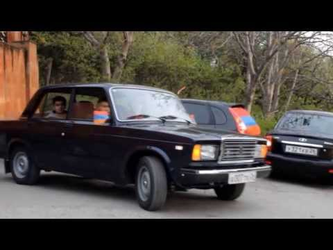 Пятигорск, автопробег в честь памяти жертв геноцида армян в Османской империи