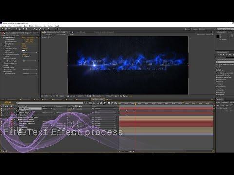 After Effects Fire Text Process: Battlefilm Studio Title