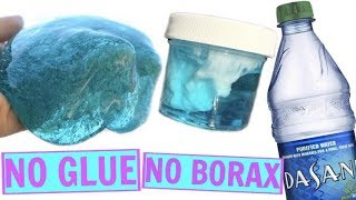 WATER SLIME 💦 HOW TO MAKE CLEAR SLIME WITHOUT GLUE, WITHOUT BORAX! TESTING WATER SLIME RECIPES!