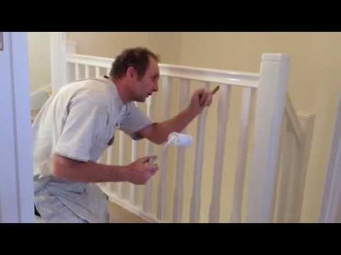Painting & decorating. How to gloss a staircase.