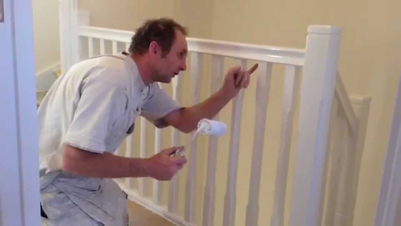 Painting Decorating How To Gloss A Staircase Youtube