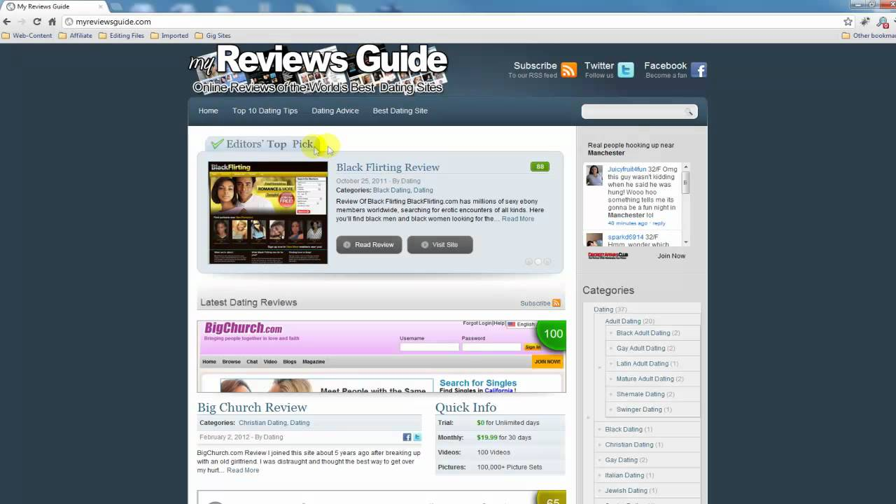 top 100 dating sites 2012
