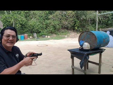 Teste baĺistico no capacete cal.22LR 38SPL +P 380ACP EXPO GOLD HEX