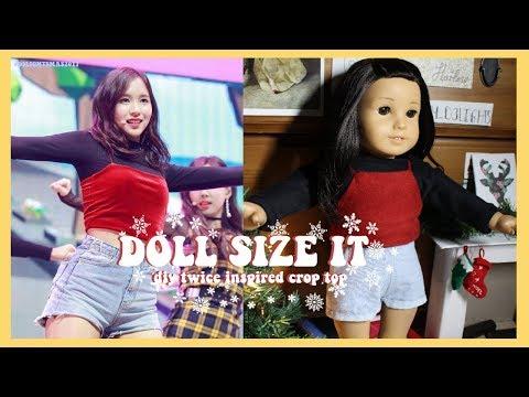 DIY TWICE(트와이스) VELVET CROP TOP FOR AMERICAN GIRL DOLL!