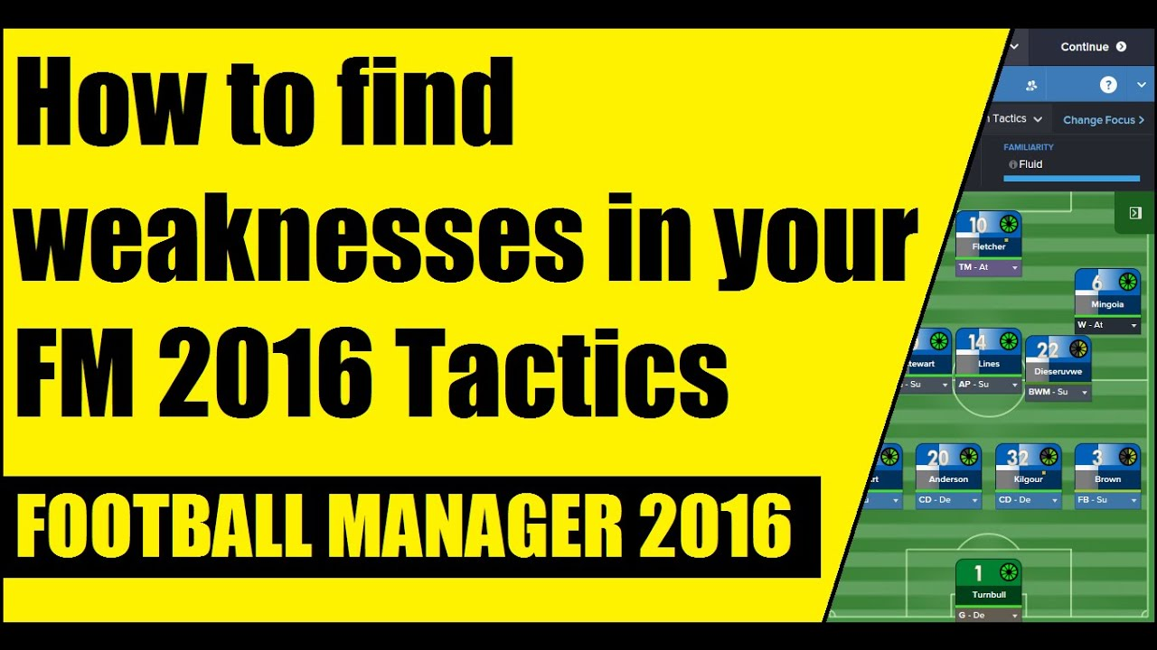 how to weaknesses in your fm 2016 tactics how to weaknesses in your fm 2016 tactics