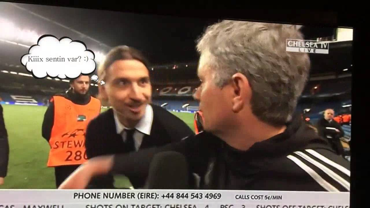 Download Ibrahimovic wishes Mourinho  good luck  in the Champions Le 2 0