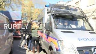 Assange llega a la corte de magistrados de Westminster