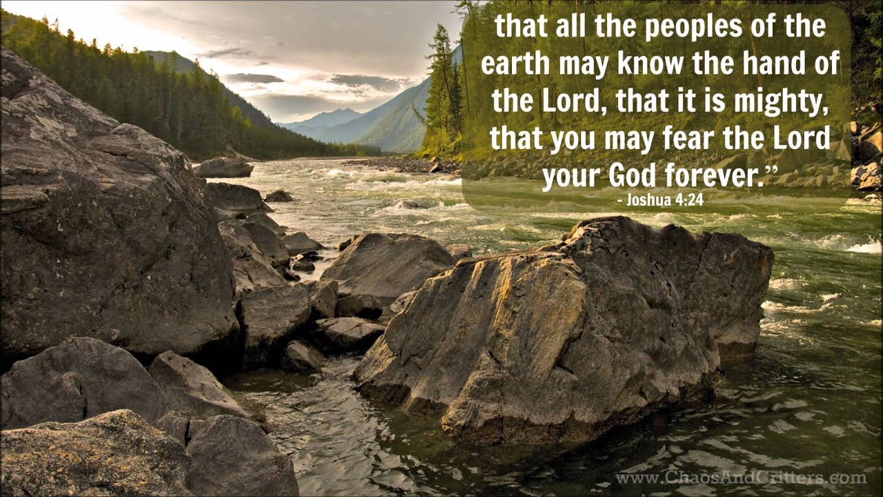 Daily Bible Verse Joshua 4 24 Daily Inspiration And