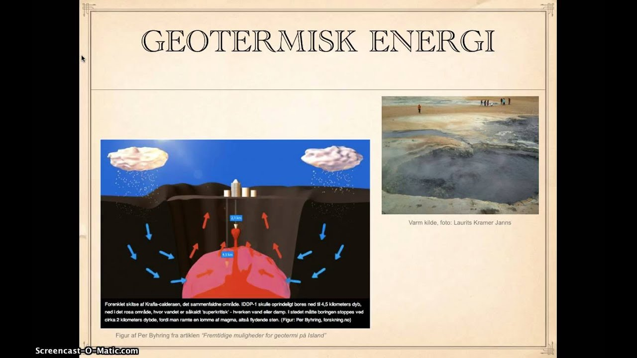 Geotermisk energi - af Laurits