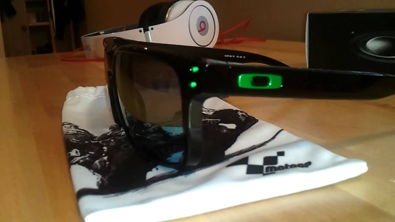 oakley motogp holbrook sunglasses  oakley holbrook motogp limited edition emerald iridium polished black review unboxing youtube