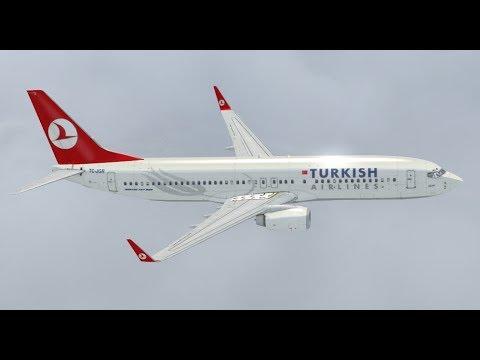 X-PLANE 11   Turkey Ankara LTAC / Turkey Istanbul LTBA   B737 Turkish Airlines