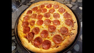 Cast Iron Pizza in a 19th Century Pizza Pan