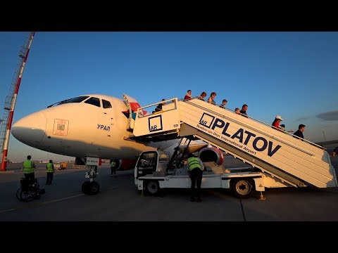 Летим на Superjet 100 (АЗИМУТ) из Н.Новгорода (Стригино) в Ростов (Платов). Вид из иллюминатора