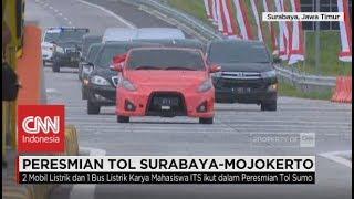 Aksi Presiden Jokowi Saat Jajal Mobil Listrik Karya ITS EZZY II di Tol SuMo