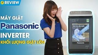 Máy giặt Panasonic 11.5kg: bảng điều khiển phía sau, nắp chống sập (NA-FD11AR1BV) • Điện máy XANH