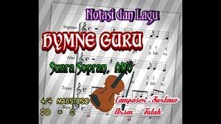 Notasi dan Lagu Hymne Guru Suara Sopran dan Alto Mp3