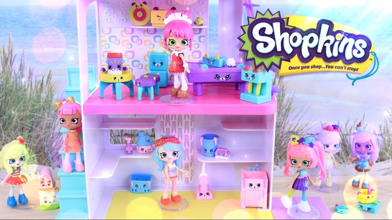 Unbox Daily: Shopkins Happy Home Game Room & Laundry