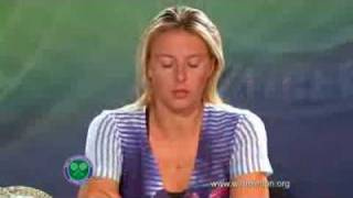 Maria Sharapova - Interview Wimbledon 2010 R2
