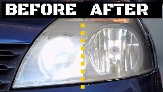DIY- Restoring foggy headlights Renault Clio 2 Full Vídeo