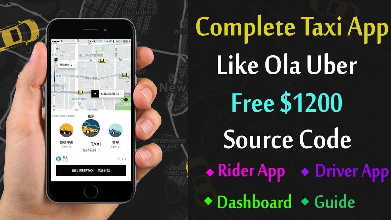 Taxi App Like Ola Uber Tutorial | Source Code