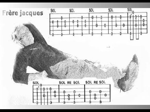 clip fr re jacques tablature guitare youtube. Black Bedroom Furniture Sets. Home Design Ideas