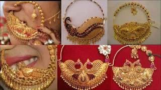 Gold Bridal Nath Design Collection