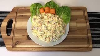 САЛАТ с говяжьим языком, яйцом и овощами. ВКУСНО!! ПРОСТО!!
