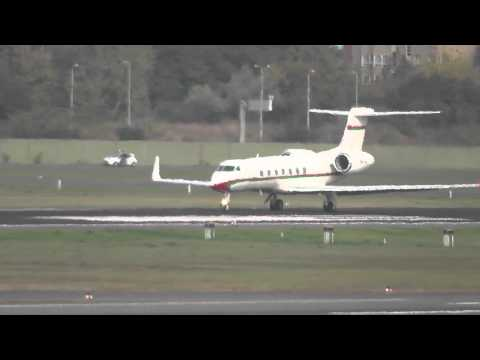Oman Royal Flight Gulfstream G550 A40-AE government takeoff at Berlin Tegel airport