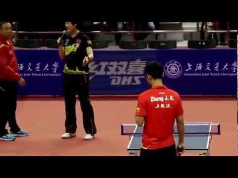 Zhang Jike & Ding Ning on a Mini Table. Show TT