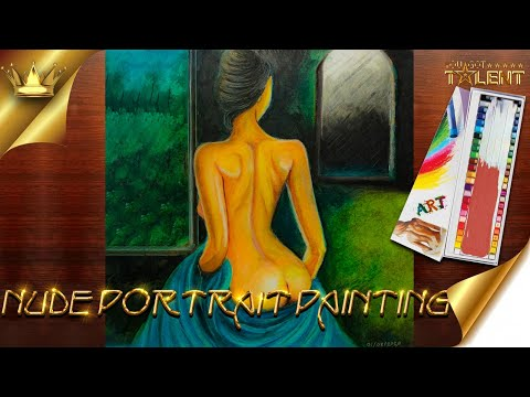 Nude portrait painting / Naked painting / nude painting / nude women / naked art   You Got Talent