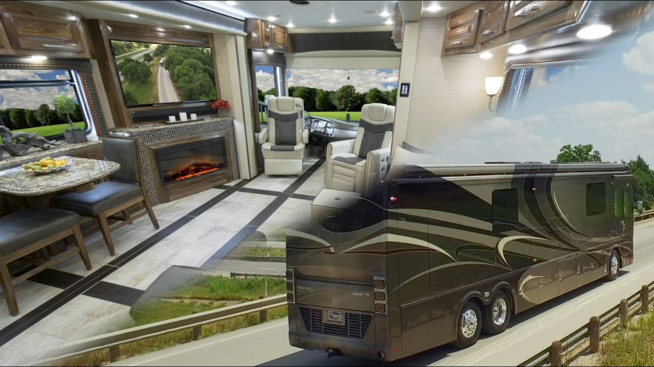 Foretravel realm fs6 luxury motor coach 2015 2016 for Motor coaches with 2 bedrooms