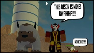 STEALING A FLYING BISON!!!! | ROBLOX AVATAR THE LAST AIRBENDER | iBeMaine